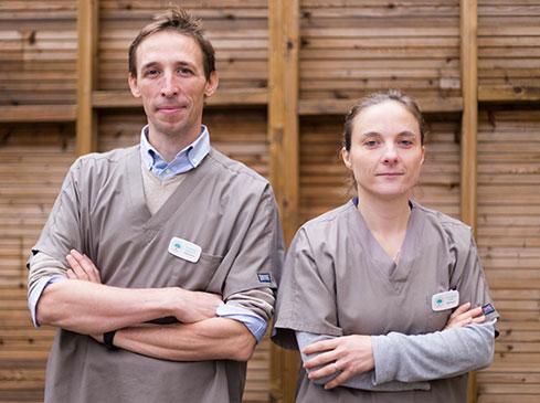 Équipe vétérinaire Clinique Urbiveto Jardin Public